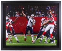 Tom Brady Signed Patriots 40x48 Custom Framed Limited Edition Photo (Steiner COA & Tristar Hologram)