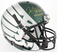 """Marcus Mariota Signed Oregon Ducks Full-Size Helmet Inscribed """"Heisman '14"""" (Radtke COA & Mariota Hologram)"""