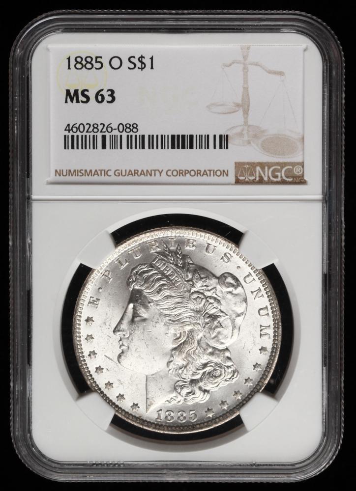 NGC MS63 1885-O US Morgan Silver Dollar S1