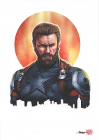 Thang Nguyen - Captain America 8x12 Signed Limited Edition Giclee on Fine Art Paper #/25