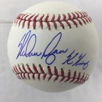 """Nolan Ryan Signed OML Baseball Inscribed """"K King"""" (JSA COA & Ryan Hologram)"""