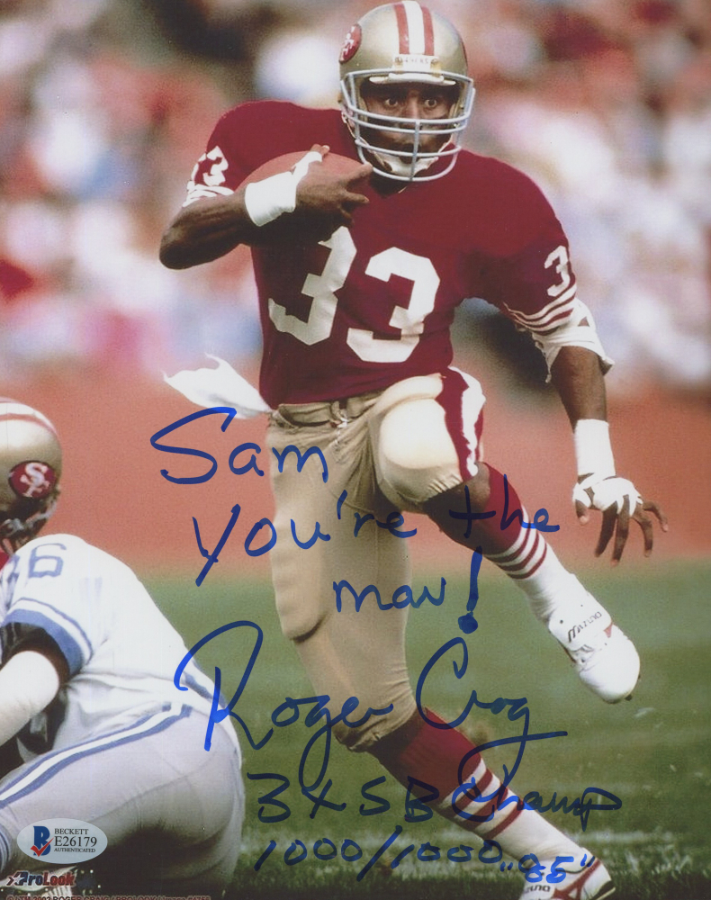 7fcb14103 Roger Craig Signed 49ers 8x10 Photo Inscribed