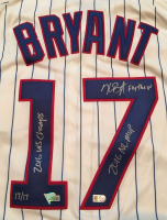 "Kris Bryant Signed Cubs Majestic Authentic Jersey Inscribed ""2016 WS Champs, ""2016 NL MVP"" & ""Fly The W"" (Fanatics Hologram & MLB Hologram) at PristineAuction.com"