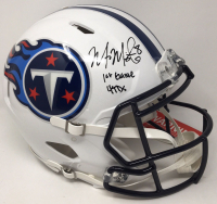 """Marcus Mariota Signed Titans Limited Edition Full-Size Authentic On-Field Speed Helmet Inscribed """"1st Game 4 TDs"""" (Steiner COA) at PristineAuction.com"""