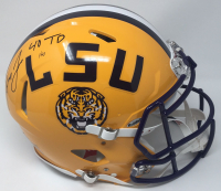 """Leonard Fournette Signed Limited Edition LSU Tigers Full-Size Authentic On-Field Speed Helmet Inscribed """"40 TD"""" (Panini COA) at PristineAuction.com"""