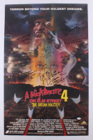 """A Nightmare on Elm Street 4: The Dream Master"" 22x34 Poster Signed by (8) Including Robert Englund, Lisa Wilcox & Tuesday Knight with Inscriptions (JSA LOA)"