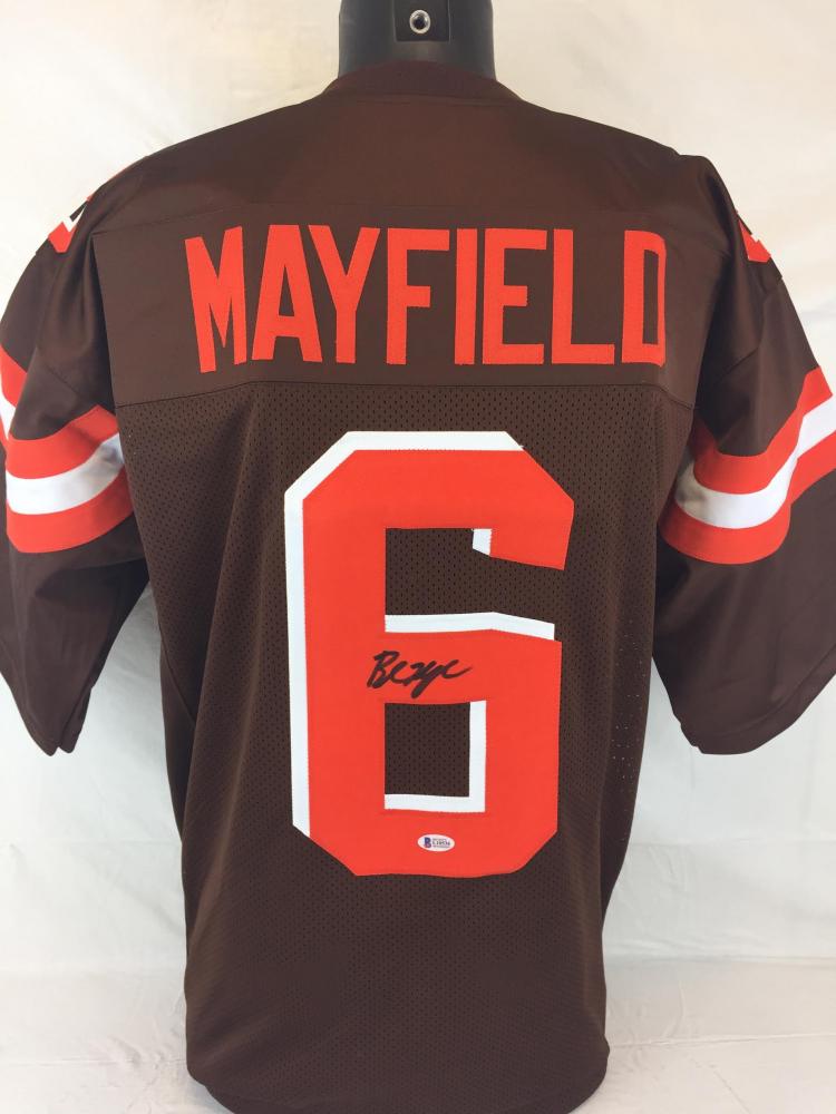 064a673d8 Baker Mayfield Signed Browns Jersey (Beckett COA)