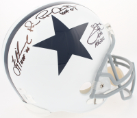 Michael Irvin, Emmitt Smith & Troy Aikman Signed Cowboys Full-Size Helmet with (3) Career Stat Inscriptions (Radtke COA, Smith & Aikman Holograms) at PristineAuction.com