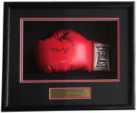 Muhammad Ali & Leon Spinks Signed 18x19x4 Custom Framed Boxing Glove Shadowbox Display (JSA ALOA)