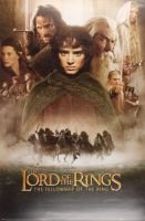 """Set of (3) Lord of the Rings 24x36 Movie Posters with """"Lord of the Rings: The Fellowship of the Ring"""", """"Lord of the Rings: The Two Towers"""" & """"Lord of the Rings: The Return of the King"""""""