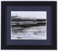 "Bobby Thomson and Ralph Branca Signed ""The Shot Heard 'Round The World"" 13x15 Custom Framed Photo Display (PSA COA) at PristineAuction.com"