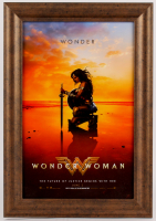 """Wonder Woman"" 14x20 Custom Framed Movie Poster"