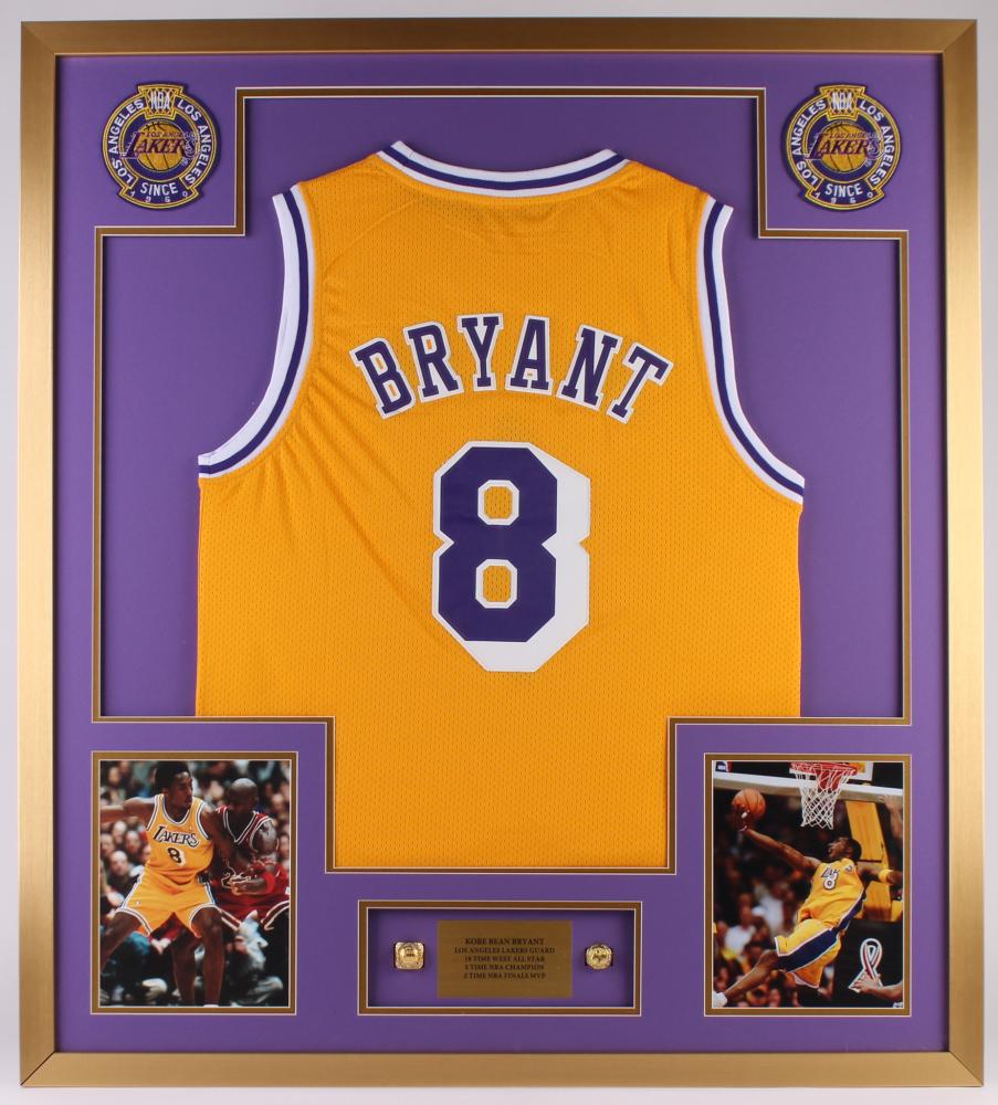 Kobe Bryant Lakers 34x38x1 Custom Framed Shadowbox Jersey Display ...