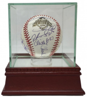 2008 Phillies World Series Logo Baseball Team-Signed by (21) with Chase Utley, Jimmy Rollins, Ryan Howard, Cole Hamels (JSA LOA)