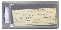 Benjamin Harrison Signed Personal Bank Check (PSA Encapsulated)