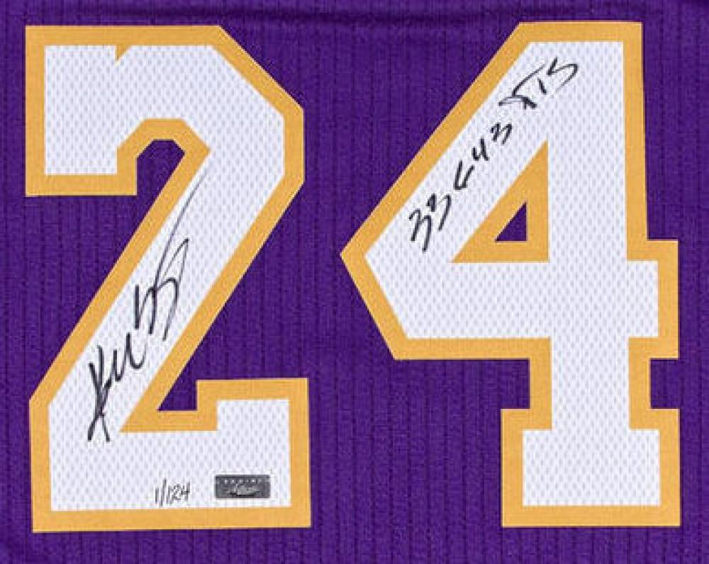 """Kobe Bryant Signed Lakers Adidas Jersey Inscribed """"33,643 PTS"""" (Panini COA)  at"""