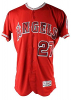 """Mike Trout Signed Angels Limited Edition Majestic Jersey Inscribed """"16 MVP"""" (Steiner COA & MLB Hologram) at PristineAuction.com"""