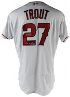 "Mike Trout Signed Angels Limited Edition Majestic Jersey Inscribed ""14, 16 AL MVP"" (Steiner COA & MLB Hologram)"