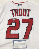 "Mike Trout Signed Angels Limited Edition Majestic Jersey Inscribed ""14, 16 AL MVP"" (Steiner COA & MLB Hologram) at PristineAuction.com"