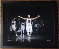 """Stephen Curry Signed Warriors """"3 Point Celebration"""" 20x24 Custom Framed Limited Edition Photo (Steiner COA) at PristineAuction.com"""