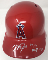 "Mike Trout Signed Angels Limited Edition Full-Size Batting Helmet Inscribed ""14,16 MVP"" (Steiner COA) at PristineAuction.com"