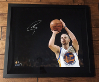 "Stephen Curry Signed Warriors ""3 Point Shot"" 20x24 Custom Framed Limited Edition Photo (Steiner COA) at PristineAuction.com"