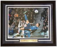 Cristiano Ronaldo Signed Real Madrid 22x27 Custom Framed Photo Display (Beckett COA)