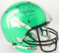 "Kirk Gibson Signed Michigan State Spartans Full-Size Chrome Helmet Inscribed ""Go State!"" (Radtke COA) at PristineAuction.com"