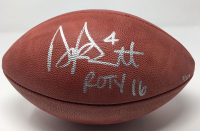"""Dak Prescott Signed """"The Duke"""" Official NFL Football Inscribed """"ROTY 16"""" (Steiner COA) at PristineAuction.com"""