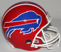 """Jim Kelly Signed Limited Edition Bills Throwback Full-Size Authentic On-Field Helmet Inscribed """"HOF 02"""" & """"Forever #12"""" (Steiner COA)"""