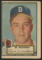1952 Topps #407 Eddie Mathews RC at PristineAuction.com