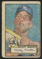 1952 Topps #311 Mickey Mantle DP / Rough Marquee Along Top Edge on Front