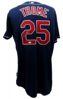 Jim Thome Signed Indians Majestic Jersey (JSA COA)
