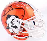 "Barry Sanders Signed OK State Cowboys Throwback Pistol Pete Full-Size Authentic On-Field Chrome Helmet Inscribed ""Heisman 88"" (Schwartz Sports Hologram)"