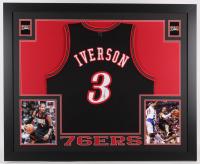 Allen Iverson Signed 76ers 35x43 Custom Framed Jersey (JSA COA)