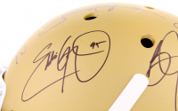 Custom Gold Matte Full-Size Helmet Signed by (24) With Marcus Mariota, Earl Campbell, Bo Jackson, Paul Hornung, Barry Sanders, Mark Ingram, Tim Brown with Inscriptions (Steiner COA & LOA) at PristineAuction.com