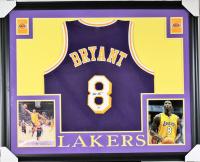 Kobe Bryant Signed Lakers 35x43 Custom Framed Jersey (PSA COA) at PristineAuction.com