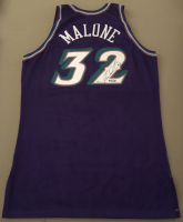 Karl Malone Signed Limited Edition 1999-2000 Authentic Champion Pro-Cut Jazz Jersey (UDA COA) at PristineAuction.com