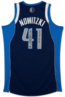 "Dirk Nowitzki Signed Dallas Mavericks Limited Edition Jersey Inscribed ""MVP 06/07"" (UDA COA) at PristineAuction.com"