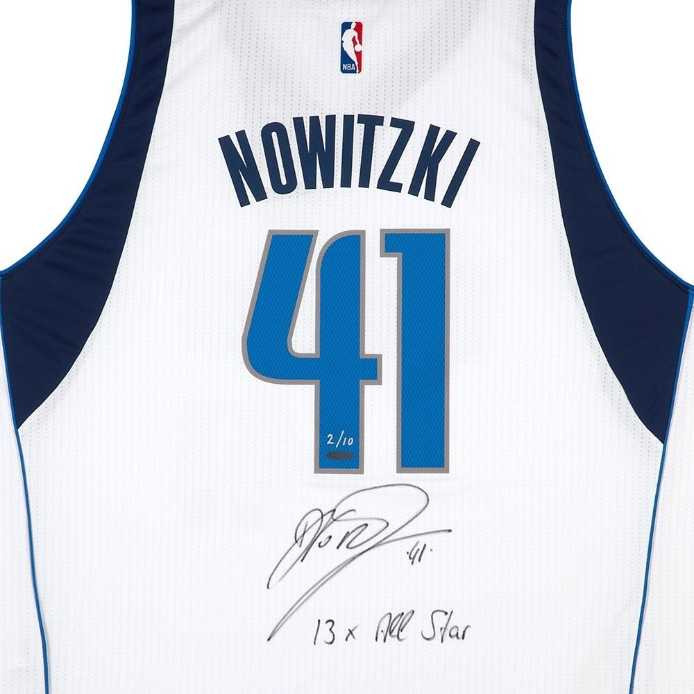 Dirk Nowitzki Signed Mavericks Limited Edition Adidas Jersey Inscribed