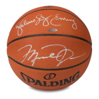 Michael Jordan & Julius Erving Signed Spalding Basketball (UDA COA) at PristineAuction.com