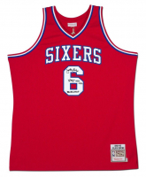 "Julius ""Dr. J"" Erving Signed Philadelphia 76ers Jersey Inscribed ""'83 NBA Champ"" (UDA COA) at PristineAuction.com"