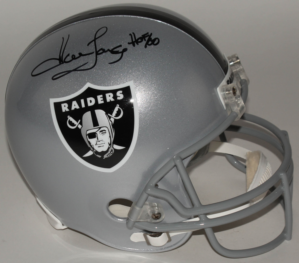 acd182d5e7d Howie Long Signed Raiders Full-Size Helmet Inscribed
