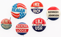 Lot of (6) Vintage Republican Presidential Campaign Pins