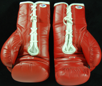 Muhammad Ali / Cassius Clay Signed Pair of Wayne Prokopiak Painted Everlast Boxing Gloves with Hand-Painted Portraits (PSA LOA) at PristineAuction.com
