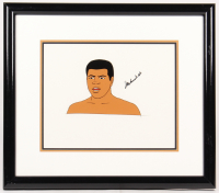 "Muhammad Ali Signed ""I Am the Greatest: The Adventures of Muhammad Ali"" 17x19.5 Custom Framed Animation Cel Display (JSA ALOA) at PristineAuction.com"