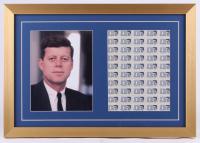 John F. Kennedy 16x23 Custom Framed Photo Display with Stamp Sheet