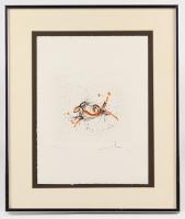"Salvador Dali Signed ""Capricorn"" 16x19 Limited Edition 1975 Etching (PA LOA)"