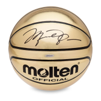 Michael Jordan Signed Molten Gold Trophy Basketball (UDA COA) at PristineAuction.com