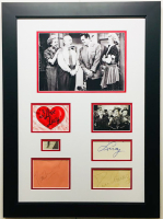 """I Love Lucy"" 19x26 Custom Framed Display Cast-Signed by (4) with Lucille Ball, Desi Arnaz, Vivian Vance & William Frawley (JSA LOA)"